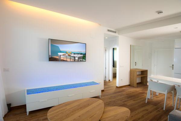 Alcossebre-Sea-Experience-4-Estrellas-Apartamento-2-dormitorios-Familiar-Frontal-Vista-Mar-Salon-Comedor