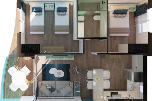 Alcossebre-Sea-Experience-4-Estrellas-Apartamento-2-dormitorios-Frontal-Vista-Mar-Planta