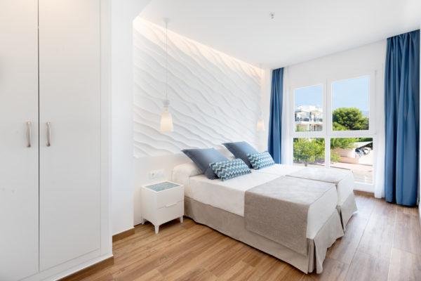 Alcossebre-Sea-Experience-Aparthotel-4-Estrellas-Apartamento-1-dormitorio-baño-adaptado-Dormitorio