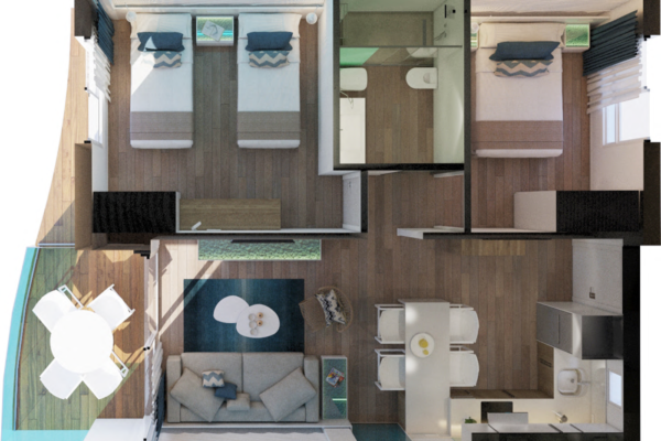 Alcossebre-Sea-Experience-Aparthotel-4-Estrellas-Apartamento-2-dormitorios-Terraza-Premium-Plant