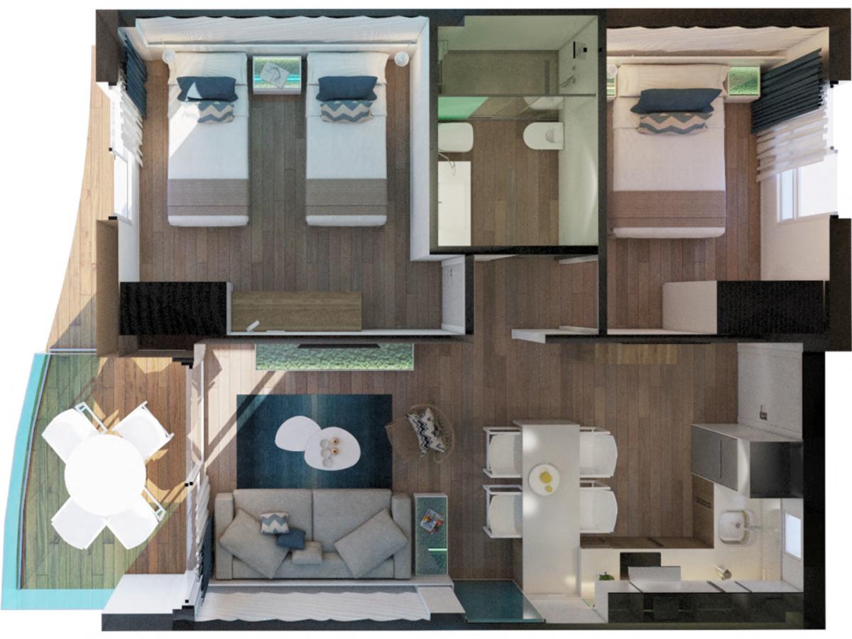 Alcossebre-Sea-Experience-Aparthotel-4-Estrellas-Apartamento-2-dormitorios-Vista-Mar-Lateral-Planta