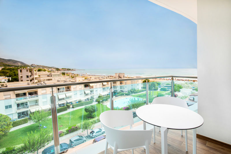 Alcossebre Sea Experience Aparthotel 4 Stars-Apartment 2 bedrooms Lateral Sea View-Terrace-Views