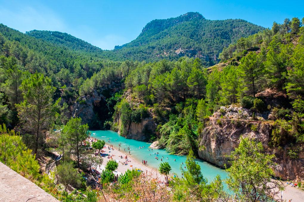Parque natural de la sierra de Espadan, Montanejos.